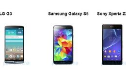 So sánh nhanh LG G3, Galaxy S5 và Xperia Z2