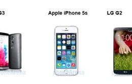LG G3 so tài cùng iPhone 5S, LG G2