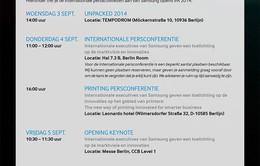 Samsung gửi thư mời ra mắt Galaxy Note 4
