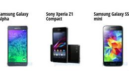 "Galaxy Alpha ""so tài"" cùng Xperia Z1 Compact, S5 mini"