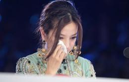 Triệu Vy bật khóc trên ghế giám khảo Got Talent