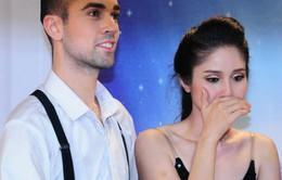 Vợ Thanh Bình bật khóc khi hoàn thành bài thi Bước nhảy