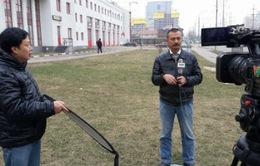 """Tác nghiệp """"điểm nóng"""" Ukraine: Những buổi ghi hình """"nhớ đời"""""""