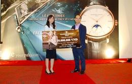 TTCE tiếp nhận 20 triệu đồng từ thương hiệu đồng hồ Thụy Sỹ