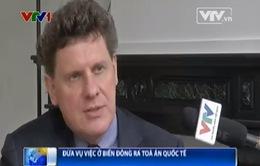 Học giả châu Âu ủng hộ Việt Nam đưa vụ việc ở Biển Đông ra Tòa án quốc tế