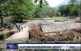 Bê tông hóa suối cổ Mỹ Sơn: Cần ý kiến chuyên gia
