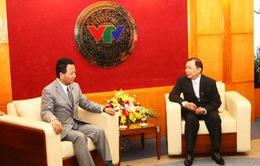 Bộ trưởng Kinh tế Nhật Bản thăm và làm việc tại Đài THVN