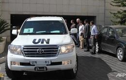 Thanh sát viên LHQ bắt đầu rời Syria