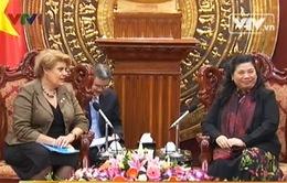 Phó chủ tịch Quốc hội tiếp trưởng đại diện UNICEF Việt Nam