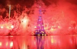 Cây thông Noel nổi lớn nhất thế giới đã thắp sáng tại Brazil