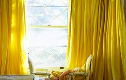 4 màu rèm cửa khiến nhà bạn bừng sáng
