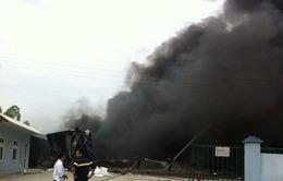 Bắc Ninh: Cháy lớn ở xưởng sản xuất nhựa