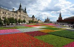 Thảm hoa khổng lồ trên Quảng trường Đỏ
