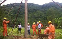Ngành điện lực Nghệ An khắc phục hậu quả sau bão lụt