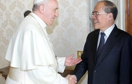 CTQH Nguyễn Sinh Hùng hội kiến Thủ tướng Vatican và Giáo hoàng