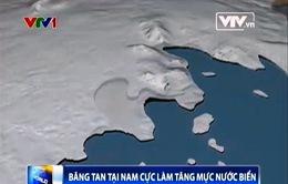 Mực nước biển có thể dâng thêm 1,2m do băng tan