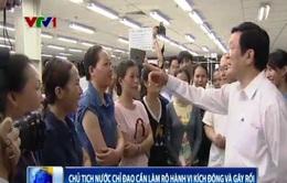 Chủ tịch nước Trương Tấn Sang: Sẽ xử lý nghiêm khắc những hành vi kích động, gây rối