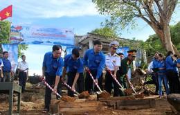 Xây dựng cột cờ Tổ quốc ở Đảo Thổ Chu, Kiên Giang