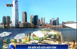 Bãi biển nổi giữa thành phố New York