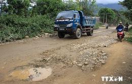 Quốc lộ 4D đoạn Lào Cai đi Sa Pa đã được khơi thông