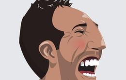 Ngộ nghĩnh biếm họa chân dung các danh thủ bóng đá