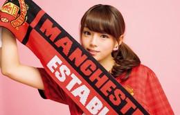 Hotgirl Nhật Bản quảng cáo áo đấu không công cho M.U, Real, Barca…