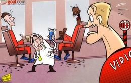 Biếm họa bóng đá tuần qua: Vidic học đòi Balotelli