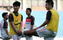 Đội tuyển Việt Nam tập nhẹ trước khi quyết đấu UAE