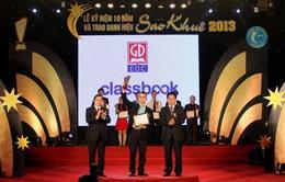 SGK điện tử Classbook nhận danh hiệu Sao Khuê