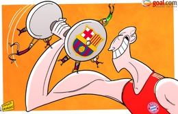 Biếm họa: Robben một tay chấp cả Barca