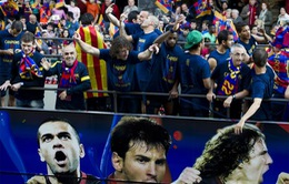 Barca ăn mừng chức vô địch La Liga lần thứ 22