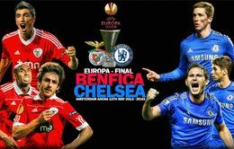 Benfica - Chelsea: Vinh quang chỉ còn cách 1 bước chân