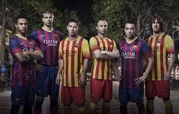 Barca chính thức công bố áo đấu mùa giải 2013/14