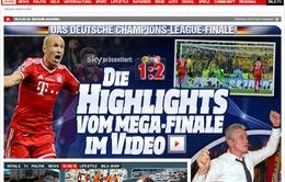 Báo chí châu Âu tung hô chiến tích của Bayern và Robben