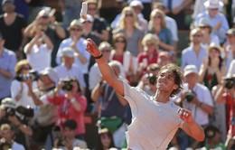 Vô địch Roland Garros không giúp Nadal tăng bậc
