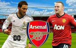 Chuyển nhượng 1/7: Arsenal lo trắng tay trong vụ Rooney lẫn Higuain