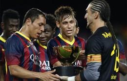 Khoảnh khắc Neymar và Messi đè bẹp Santos