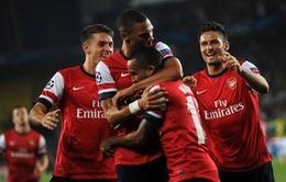 Arsenal chính thức lọt vào vòng bảng Champions League