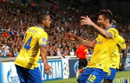 """Marseille 1-2 Arsenal: """"Pháo thủ"""" thắng thiếu thuyết phục"""