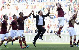 Roma 2-0 Lazio: Nước mắt của Balzaretti