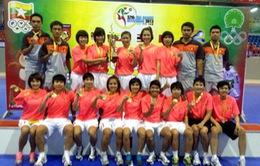 Đánh bại Thái Lan, ĐT Futsal nữ Việt Nam vô địch ĐNA
