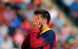 """Barca mất trụ cột trước trận """"Siêu kinh điển"""""""