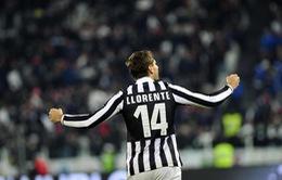 """Juventus 1-0 Udinese: Llorente giúp """"Lão phu nhân"""" vững ngôi đầu (VIDEO)"""
