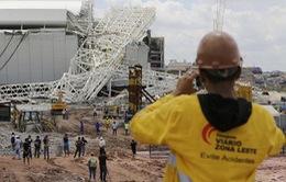 World Cup 2014: Công nhân lo lắng sau sự cố sập sân Arena Corinthians