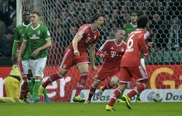 """Bremen 0-7 Bayern Munich: Kinh hoàng sức mạnh """"Hùm xám"""" (VIDEO)"""
