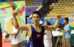 SEA Games 27: Vật và wushu lập cú đúp, Việt Nam leo lên vị trí thứ 2 BXH