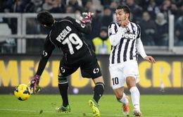 Juventus 4-0 Sassuolo: Tevez lập hat-trick, Juve trút giận Champions League (VIDEO)