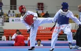 """SEA Games 27: Cú đá """"vàng"""" của VĐV taekwondo Phạm Thị Thu Hiền"""