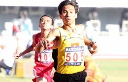 """SEA Games 27: Pha bứt tốc ngoạn mục của """"anh nuôi"""" Nguyễn Văn Lai trên đường chạy 10.000m"""