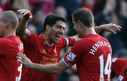 Liverpool 3-1 Cardiff: Suarez rực sáng, Liverpool tạm chiến ngôi đầu (VIDEO)